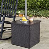 Sunjoy A210000602 Vanessa Combination Umbrella Stand Side Table, Brown