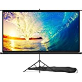 Projector Screen with Stand 100 inch - Indoor and Outdoor Projection Screen for Movie or Office Presentation - 16:9 HD Premiu
