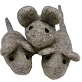 Earthtone Solutions Felt Cat Toys - 3 Wool Mouse Toys for Indoor Cats and Kittens - Handmade Mice