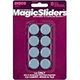 "Magic Sliders 8025 Series 8PK 1"" RND Slide Disc, 1, Blue"