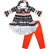 Boutique Clothing Baby Toddler Little Girls Tis The Season Merry Christmas Santa Reindeer Top Bottom Scarf Outfits