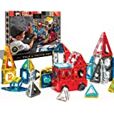 FAO Schwarz 150 Piece Magnetic Tiles Set, Engineering STEM Toy Kit