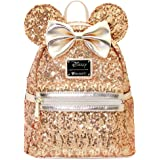 Loungefly X LASR Exclusive Disney Yellow Gold Sequin Minnie Mini Backpack