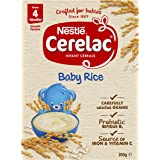 NESTLÉ CERELAC Baby Rice Baby Cereal Stage 1, 6x200g