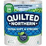 Quilted Northern Ultra Soft & Strong Toilet Paper, 6 Mega Rolls = 24 Regular Rolls, 2-ply Bath Tissue