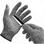 WISLIFE Cut Resistant Gloves, Level 5 Protection, Food Grade,EN388 Certified, Safety Gloves for Hand Protection...
