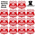 Home Security Stickers 14 Alarm Sign Security Stickers for Windows Doors