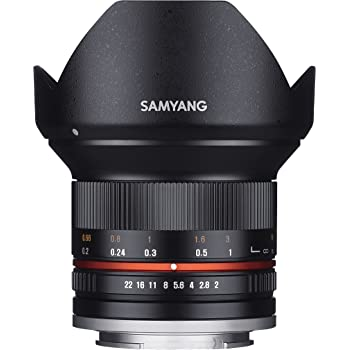 SAMYANG 単焦点広角レンズ 12mm F2.0 ブラック フジフイルム X用 APS-C用