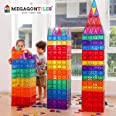 MegagonTiles 110PCS Premium Magnetic Tiles, STEM AUTHENTICATED, Magnetic Blocks, Magnetic Toys, Magnetic Building Blocks, Gif