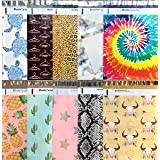Designer Poly Mailers 10x13: Sample Variety Pack #3 ~ Sea Turtle, Posh Thank, Leopard, Marble, Tie Dye, Pineapple, Pink Star,