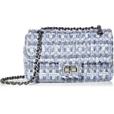 Karl Lagerfeld Paris womens Agyness Lame Shoulder Bag