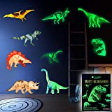 Dinosaur Wall Decals for Boys Girls Room, Glow in The Dark Stickers, Large Removable Decor for Bedroom, Living Room, Classroo
