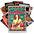 HK Studio Vintage Posters of Music Band, Self-Adhesive Vinyl Decal Indie Poster for Room Aesthetic 90s, Retro Music Posters W