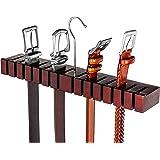 HOUNDSBAY Block Solid Mahogany Belt Holder Hanger & Belt Rack Organizer for Closet Storage Organization (Mahogany)