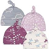 Gerber Grow Baby Girls Organic 4-Pack Caps