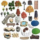 Miniature Fairy Garden Accessories Outdoor, Terrarium Fairy Garden Supplies Kit, Zen Garden Accessories, Tiny Figurines Set,