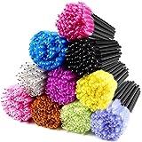 ECBASKET 500PCS Disposable Mascara Wands Applicators Multicolored Mascara Brushes Eyelash Eyebrow Brushes Cosmetic Brush Make