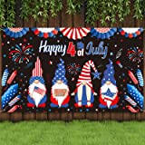 PatrioticBackdrop 4thofJulyBackground Independence Day Photography Backdrop Patriotic Decorations with Fireworks, Red Blu