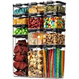 12 Pack Airtight Food Storage Container Set - Kitchen & Pantry Organization Containers - BPA Free Clear Plastic Kitchen and P