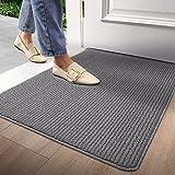 """Door Mat Outdoors Indoor Rug Inside Front Outdoor for Entryway 24""""x36"""",Grey"""