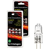 Brite Innovations G4 Halogen Bulb, 20 Watt (8 pack) Dimmable Soft White 2700K -12V-Bi Pin -, T3 JC Type, Clear Light Bulb
