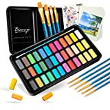 Bianyo Watercolor Set -36 Vibrant Colors - Watercolor Paper- Brush-Palette For Kids Adults Painting, Coloring, Gift Travel Ca