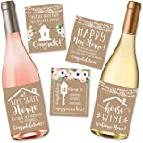 5 Rustic House Warming Presents, New Homeowner Stickers or Wine Label Gift Set Ideas, Congrats Home Sweet Home Party, Unique