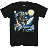 Mad Engine Star Wars Boba Fett Starry Night Men's Adult Graphic Tee T-Shirt