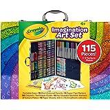 CRAYOLA Imagination Art Case, Portable Art Studio, 115 Pieces, Textured Rubbing Plates, Crayons, Markers, Pencils, Washable,