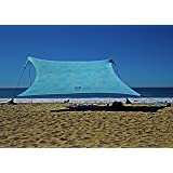 Neso Tents Gigante Beach Tent, 8ft Tall, 11 x 11ft, Biggest Portable Beach Shade, UPF 50+ SunProtection, Reinforced Corners a