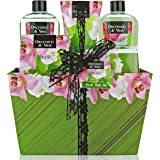 Lovestee Bath and Body Gift Set, Aromatherapy Bath Gift Basket for Men/Woman with Natural Orchard & Vine Scent Spa Gift Baske