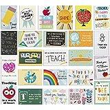 【24 Pack】 Thank You Card for Teacher- Cute Teacher Appreciation Cards in 24 unique Designs- Greeting Card For Teacher- Teache