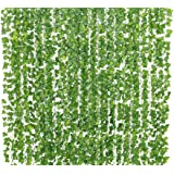 Yatim 78-Ft 12 Pack Artificial Plants Greeny Chain Wall Hanging Leaves for Home Room Garden Wedding Garland Outside Decoratio
