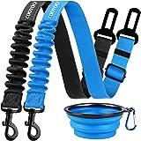 COOYOO Dog Seat Belt,2 Pack Pet Car Seat Belts Adjustable Heavy Duty & Elastic Vehicle Dog Safety Belt Harness for Travel Dai