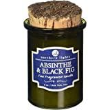 Northern Lights Candles 52603 Absinthe & Black Fig Fragranced Candle, 5 oz, Olive