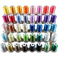 New brothread 40 Brother Colors Polyester Embroidery Machine Thread Kit 500M (550Y) each Spool for Brother Babylock Janome Si