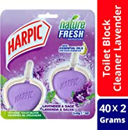 Harpic Active Fresh Hygienic Toilet Block Cleaner, Twin Pack, Lavender, 80 g