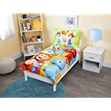 "Cocomelon ""Learning Is Fun"" 4Piece Bedding Set, Multicolor"