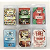 6 Pack Soy Wickless Candle Wax Bar Melts - Christmas Scents - Peppermint Bark, Mistletoe, White Chestnut Spice, Sugar Cookie,