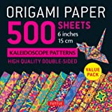 """Origami Paper 500 sheets Kaleidoscope Patterns 6"""" (15 cm): Tuttle Origami Paper: High-Quality Double-Sided Origami Sheets Pri"""