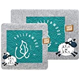 Vallenwood Wool Pressing Mat for Quilter´s Plus Wool Dryer balls Set as a Gift, Great for Travel and Quilting. Portable Heat