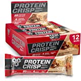 BSN Protein Bars - Protein Crisp Bar by Syntha-6, Whey Protein, 20g of Protein, Gluten Free, Low Sugar, Salted Toffee Pretzel