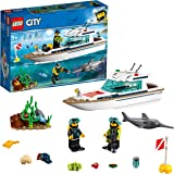 LEGO City Diving Yacht 60221 Building Toy, Vehicle Toy for 5+ Year Old Boys and Girls, 2019