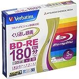 バーベイタムジャパン(Verbatim Japan) くり返し録画用 BD-RE VBE130NP5V1 (片面1層/1-2倍速/5枚)