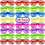 Mega Pack 50 Pairs of Kids Plastic Shutter Shades Glasses Shades Sunglasses Eyewear Party Favors and Party Props Assorted Col
