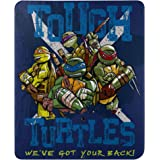 "Teenage Mutant Ninja Turtles, Tough Turtle Blues Fleece Throw Blanket, 45"" x 60"""