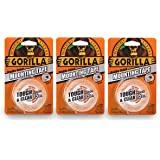 "Gorilla 6065001-3 Tough & Clear Mounting Tape, Double-Sided, 1"" x 60"", Clear, (Pack of 3), 3 - Pack, 3 Piece"