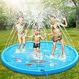 "Splash Pad, 69"" No More Burst Sprinkle and Splash Play Mat for Kids Boys Girls Fun Splash Play Mat Summer Outdoor Sprinkler P"