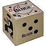 Field Logic Block 6-Sided Arrow Archery Target with Polyfusion Technology, Black, 18 x 18 x 16 (B56700)