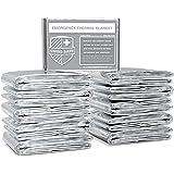 Swiss Safe Emergency Mylar Thermal Blankets (Bulk 10pk/25pk/75pk) - Designed for NASA, Outdoors, Hiking, Survival, Marathons